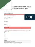 Online Review exam ISBB