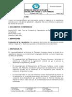 RRHH- GGM - P007 EVALUACION DEL IMPACTO DE LA CAPACITACION