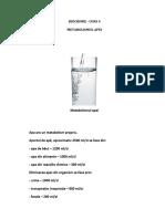 metabolismul apei