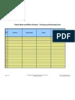 FMEA (MRMA) Reporting Sheet
