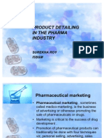 PRODUCT DETAILING IN THE PHARMA INDUSTRY  final