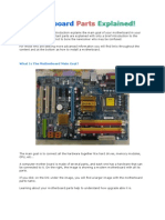 Motherboard Parts peripherals and connectors explained