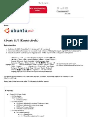 Ubuntu_Karmic - | Booting | Computer Architecture