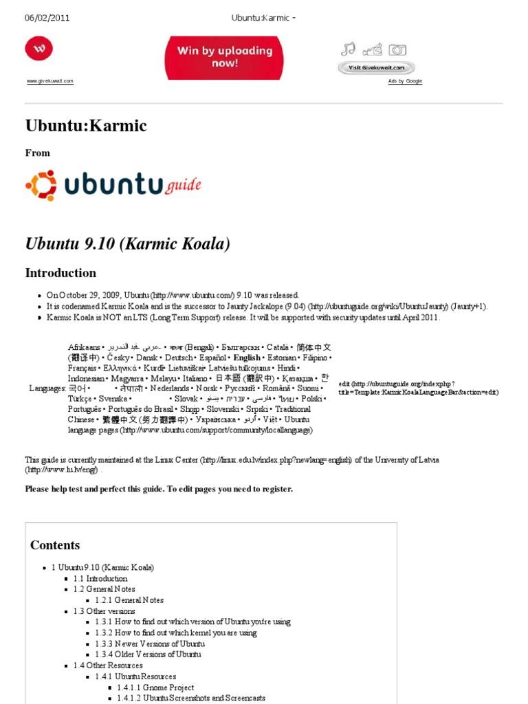Ubuntu_Karmic - | Booting | Ubuntu (Operating System)