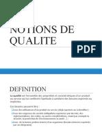 1- Notions de Qualite