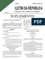 Regulamento Lei de Minas