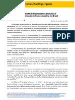 ORGANIZAÇÕES - Carta Aberta de em Apoio à Regulamentação da Educação Domiciliar no Brasil - Documentos Google
