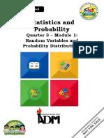 Statistics _ Probability_Q3_Mod1_Random Variables and Probability Distributions
