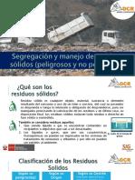 Capacitación - Segregación y manejo de residuos sólidos 2021