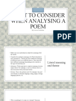 What to Consider When Analysing a Poem