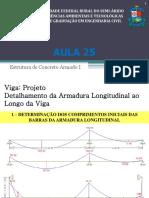 Aula 025 - Vigas - Projeto -Detalhamento Da Armadura Longitudinal Ao Longo Da Viga-Final (1)