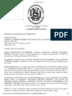 TSJ Regiones - Decisión ALEJANDRO URDANETA