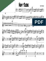 (Sheet Music) Hey Jude.tenor Sax
