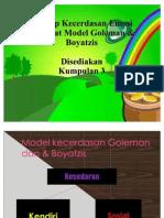 Konsep Kecerdasan Emosi menurut Model Goleman & Boyatzis