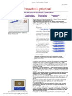 I francobolli di Posta Prioritaria
