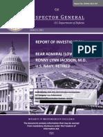 Report No. DODIG-2021-057_ Report of Investigation Rear Admiral (Lower Half) Ronny Lynn Jackson, M.D. U.S. Navy, Retired (Redacted).pdf