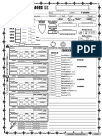 Character Sheet - Paladin