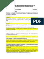 EVALUACION DE LABORATORIO DE MECANICA DE SUELOS UNIVERSIDAD COOPERATIVA DE COLOMBIA PARCIAL 3