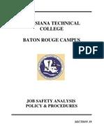 19. Job Safety Analysis Policy&Procedure