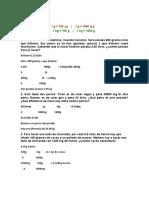 Ejercicios masa, volumen y temperatura