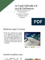 Semana 2 Medicina Legal Aplicada a la Practica de Enfermería