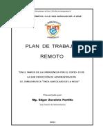 Plan de Trabajo Remoto Para El Ano 2021 Marzo Diciembre Md