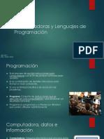 01 Computadoras y Lenguajes de Programación