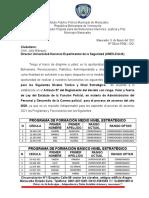 SOLICITUD DE PROGRAMA DE FORMACIÓN DE NIVEL ESTRATEGICO