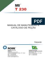 Manual de Manutenção e Catalogo de Peças