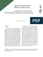 BARRETO Ana O lugar do negro em juiz de fora mg segregação ambiental espaço e raça