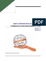 Communications Management Plan Sample