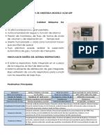 FICHA TECNICA MAQUINA DE ANESTESIA MODELO ACM 659