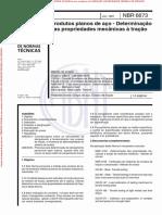 ABNT NBR 6673-81 - Determinação das propriedades mecânicas à tração
