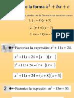 Trinomio de la forma x^2+bx+c