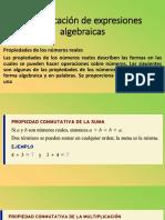 Simplificación de expresiones algebraicas propiedades de los numeros reales