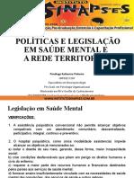 Políticas e Legislação Em Saúde Mental e Da Rede Territorial