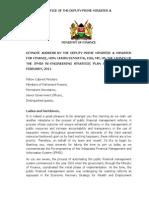IFMIS Re-Engineering Strategic Plan Keynote Address by Hon Uhuru Kenyatta