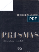 ADORNO, Theodor W. Anotações sobre Kafka in Prismas - crítica cultural e sociedade - [ocr]