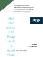 Informe de Dinamica asertiva LOLIMAR GARCIA