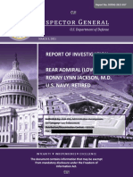 Rep. Ronny Jackson DOD IG Report