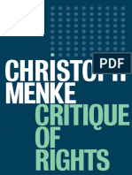 Christoph Menke - Critique of Rights-Polity Press (2020)