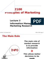 Lecture 3 Notes - Marketing Research