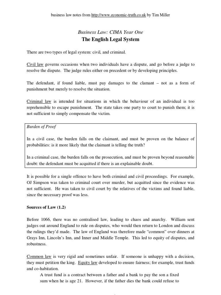 law01   European Union Law   Burden Of Proof (Law)