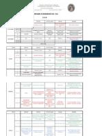 Calendario de Actividades de la Junta Ejecutiva Nacional Mexico de la OFS 2010 2011