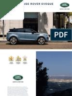 Range Rover Evoque Brochure 1L5512030000BFRFR03P Tcm286 737360