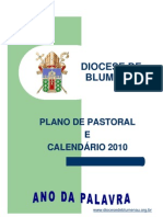 Plano de Pastoral da Diocese de Blumenau