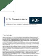 CPEX Pharmaceuticals Transaction Analysis