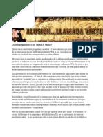 28-02-11 Qué le preguntarías al Dr. Miguel A. Muñoz