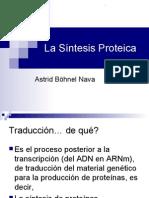la síntesis proteica