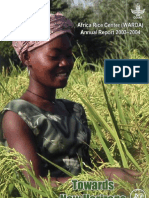AfricaRice Annual Report 2003-2004